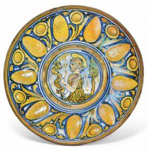 Gubbio majolica copper-lustre crespins ca. 1530-50