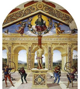 Martyrdom of St Sebastian by Perugino at Panicale