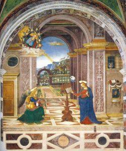 Pinturicchio's Annunciation in the Collegiata di Santa Maria Maggiore, Spello