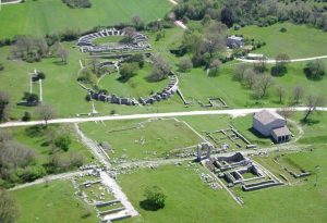 Aerial view of Carsulae Roman ruins