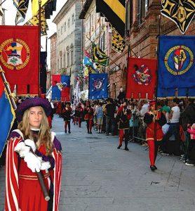 Parade during the Palio of Città della Pieve