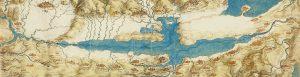 Leonardo da Vinci map of the Val di Chiana